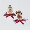 Item # 101292 - Owl With Hat & Bow Tie Ornament