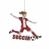 Item # 101353 - Soccer Girl Ornament