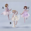 "Item # 101375 - 6"" Porcelain Ballerina With Stand Ornament"
