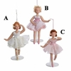 "Item # 101375 - 6"" Porcelain Ballerina With Stand Christmas Ornament"