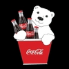 Item # 101550 - Coca-Cola Polar Bear In Bucket Christmas Ornament