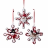 Item # 101686 - Santa/Snowman/Deer Snowflake Christmas Ornament