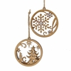 Item # 101687 - Brown Tree/Snowflake Circle Ornament