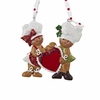 Item # 101824 - Gingerbread Couple With Heart Christmas Ornament