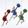 Item # 101923 - Red/Blue/Green Cheerleader Christmas Ornament