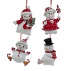 Item # 102034 - Snowman With Tree/Skate/Ice Cream/Candy Ornament