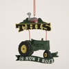 "Item # 102044 - 3.5"" Resin How I Roll Tractor Christmas Ornament"