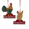 Item # 102047 - Rooster/Hen Ornament