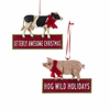 Item # 102055 - Cow/Pig Ornament