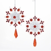 Item # 102072 - Snowflake With Red Gems Ornament