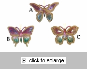 Item # 102119 - Iridescent/Gold Butterfly Christmas Ornament