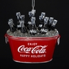 Item # 102163 - Coke Bottles In Red Cooler Christmas Ornament