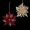 Item # 102187 - Red/Gold Poinsettia Christmas Ornament