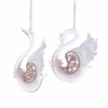 Item # 102193 - Clear/Pink Swan Ornament