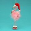 "Item # 102240 - 7.5"" Flamingo With Dangle Legs Christmas Ornament"