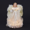 Item # 102255 - Ivory Angel Tree Topper With 10 Lights