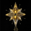 "Item # 102259 - 8.5"" Capiz/Wire 5 Point Star Tree Topper With 10 Lights"