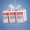 Item # 102350 - Budweiser Beer Six Pack With Bow Ornament