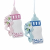 Item # 102370 - Baby's First Christmas Bottle Ornament