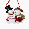 Item # 102371 - We're Expecting Snowman Couple Ornament