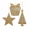 Item # 102410 - Lace Gold Mirror Gift Box/Star/Tree Ornament