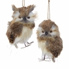 "Item # 102447 - 5"" Brown Owl Christmas Ornament"