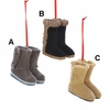 "Item # 102475 - 2.5"" Resin Flocked Boots Christmas Ornament"
