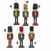 "Item # 102484 - 6"" Wood Glittered Nutcracker Christmas Ornament"