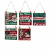 "Item # 102501 - 4"" Wood Traditional Christmas Sign Ornament"