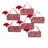 "Item # 102520 - 5"" Wood Santa Hat Sign Christmas Ornament"