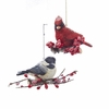 "Item # 102604 - 5"" Resin Chickadee/Cardinal Christmas Ornament"