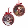 "Item # 102610 - 5"" Resin Santa Shadow Box Christmas Ornament"