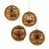 "Item # 102628 - 3"" Bourbon Barrel Lid Christmas Ornament"