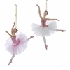 "Item # 102648 - 6.75"" Resin Pink Ballerina Christmas Ornament"