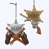 "Item # 102656 - 4"" Resin Western Sheriff Christmas Ornament"