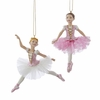 "Item # 102657 - 4.5"" Resin White/Pink Ballerina Christmas Ornament"