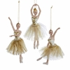 "Item # 102670 - 7"" Resin Ivory/Gold Ballet Christmas Ornament"