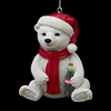"Item # 102725 - 3"" Resin Coca-Cola Bear Cub Christmas Ornament"