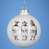 Item # 102779 - 80 mm Glass Chick-Fil-A Ball Christmas Ornament