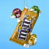 "Item # 102784 - 5"" Resin M&Ms On M&Ms Bag Christmas Ornament"