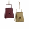 """Item # 102797 - 4"""" Metal Cow Bell Christmas Ornament"""