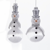 Item # 102879 - Silver/White Snowman With Snow Filling Ornament