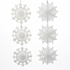 Item # 102889 - White Snowflake Cluster Ornament