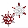 Item # 103003 - Red/White Snowflake Ornament