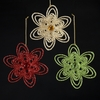 Item # 103005 - Beaded Flower Ornament