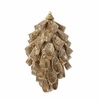 "Item # 103018 - 6"" Glittered Gold Pinecone Christmas Ornament"
