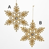 Item # 103021 - Gold/Platinum Snowflake Ornament