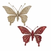Item # 103030 - Glittered Butterfly Clip Ornament