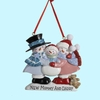 "Item # 103125 - 3.25"" Resin New Mommy/Daddy Snow Family Christmas Ornament"