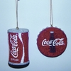 "Item # 103140 - 2.5-3.5"" Coke Icon Ornament"